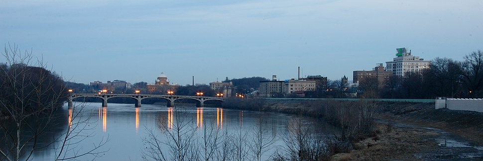 Wilkes-Barre with Susquehanna River