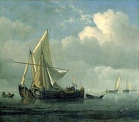 Two Ships at Anchor