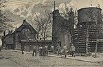 Willenberg, Ostpreußen - Bahnhof mit zerstörtem Wasserturm (Zeno Ansichtskarten).jpg