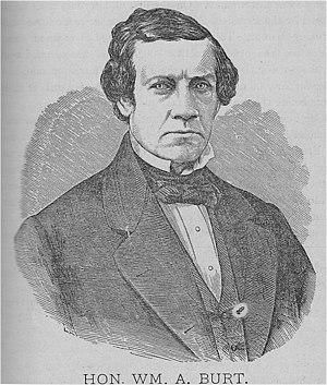 William Austin Burt - sketch, before 1873