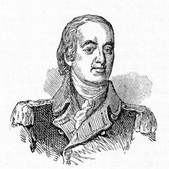 Battle of Short Hills - Brigadier General William Alexander, engraving from Harper's Encyclopedia, 1905