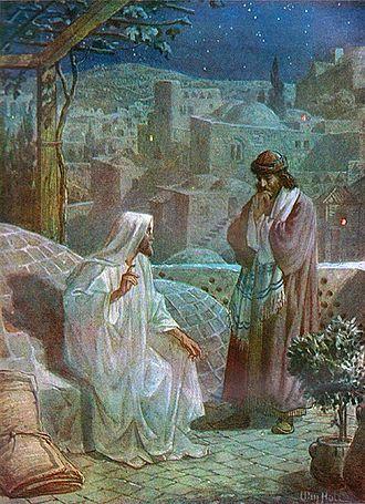 Split of Christianity and Judaism - Jesus and Nicodemus by William Hole.