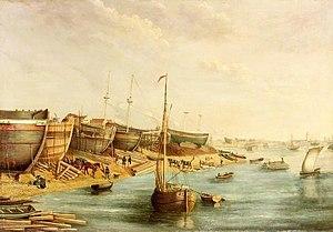 William Pile (shipbuilder) - William Pile's Shipyard, North Sands, Sunderland