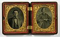 William and Adaline Kingrey tintype pair dated 1864 in double union case (8487708594).jpg