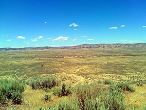Geography of Colorado - Sagebrush Shrubland is typical of Northwestern Colorado. This ecosystem dominates here in Wolf Creek Wildlife Management Area, near Massadona, CO