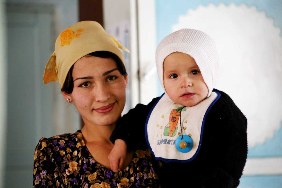 Woman and child from Tajikistan