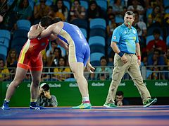 Wrestling at the 2016 Summer Olympics, Makhov vs Zasyeyev 6.jpg