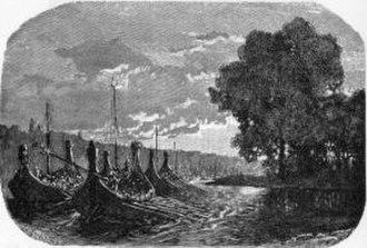Wulfings - The Wulfing navy on the move, an illustration from the poems on the Wulfing Helgi Hundingsbane