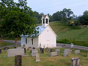 Wear Cove - Headrick Chapel, constructed in 1902