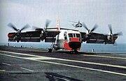 XC-124A on deck of USS Bennington (CVS-20) 1966