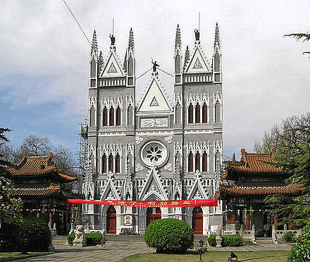 The Beitang Church was established in Beijing by the Jesuits in 1703.