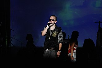 Wisin & Yandel - Yandel performing.