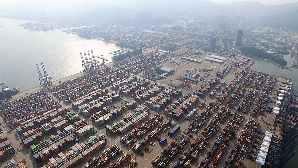 Yantian-port from above