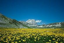 Corno Grande da Campo Imperatore, nel parco nazionale del Gran Sasso e Monti della Laga