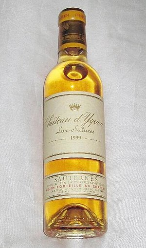 Sauternes (wine) - A half bottle of Sauternes from Château d'Yquem