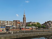 Zaandam, kerk1 in straatzicht foto1 2011-04-17 16.02