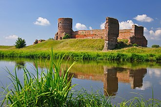 Koło - Gothic castle in Koło, built in the 14th century on the river Warta
