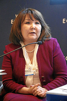 Zhanar Aitzhanova World Economic Forum 2013.jpg
