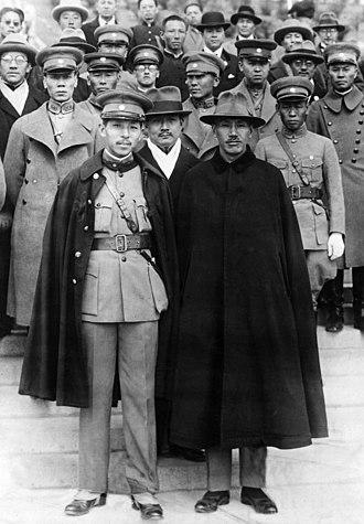 Zhang Xueliang - Zhang with Chiang Kai-Shek in November 1930.