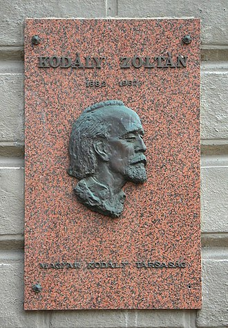 Zoltán Kodály - Commemorative plaque in Andrássy Avenue, Budapest