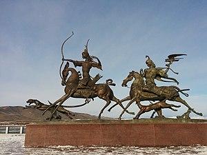 "Kyzyl - Image: ""Хаан биле Кадынның аңнап турары"" Кызыл.2014"