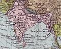 """""""Tibet"""" and """"Hindustan"""" 1892 map detail, Meyers Kleines Konversationslexikon. Bibliographisches Institut, Leipzig und Wien 1892, from- Asien Bd1 (cropped).jpg"""