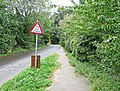 """""""Try your Brakes"""" Road Sign, Sutton Ford - geograph.org.uk - 1495190.jpg"""