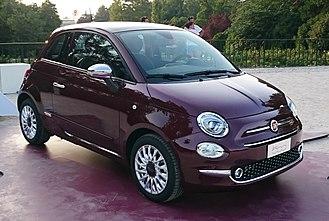 "A-segment - Image: "" 15 ITALY Fiat 500 restyling in Sempione Park (Sforzesco Castle) in Milan world premier 2015 Hatchbacks purple lounge and white sport 05"