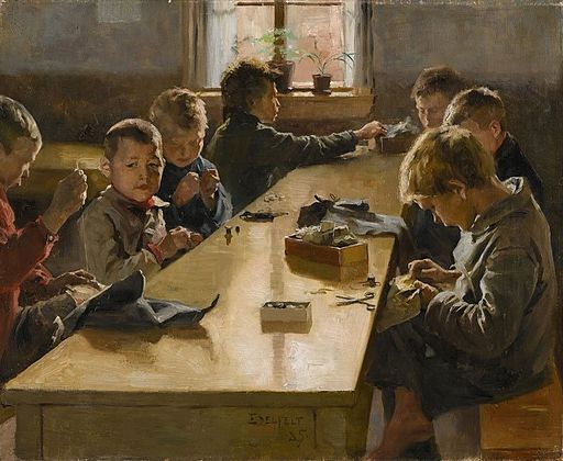 'The Boys' Workhouse, Helsinki' by Finnish artist Albert Edelfelt, 1885