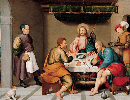 'The Supper at Emmaus', oil on canvas painting by Jacopo Bassano (Jacopo dal Ponte).jpg
