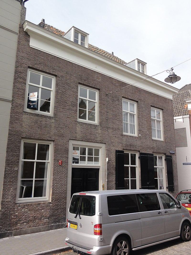 Huis met eenvoudige gevel uit begin 19e eeuw waarachter een ouder zeer diep pand reikend tot - Oude huis gevel ...