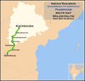 (Kacheguda - Guntakal) Passenger route map.png