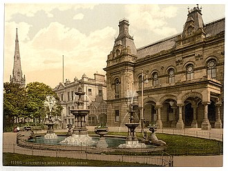 "Southport - ""Municipal buildings, Southport, England"", ca. 1890 - 1900."