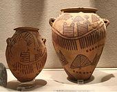 Naqada boat on pottery vase