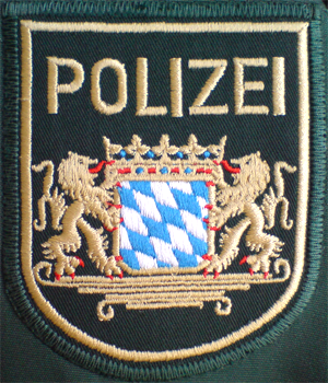 Bavarian State Police - The uniform patch of the Bavarian Police Force