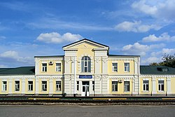 Serebryakovo railway station in Mikhaylovka