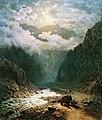 И. Н. Занковский. Река в ущелье.jpg