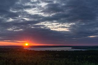 lake in Leningrad Oblast, Russia