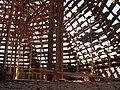 Покровская башня вид на воссоздаваемый шатёр изнутри.JPG