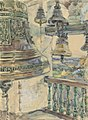 Якунчикова (Вебер) Мария Васильевна Вид с колокольни Саввино-Сторожевского собора в Звенигороде.jpg