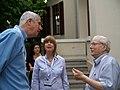 הסופר יורם קניוק, מנכל סטימצקי איריס בראל, מנכל ניופאן צביקה גיור (4644324137).jpg
