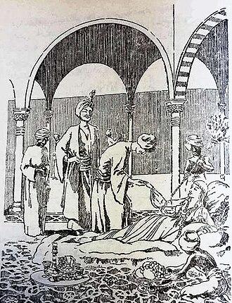 Shajar al-Durr - A sketch depicting Shajar al-Durr
