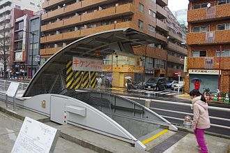 Yamate Tunnel - An opened emergency exit from the tunnel, located in the median of Yamate Street.