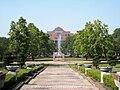 中正大學 禮堂望向噴水池與圖書館.JPG
