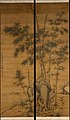 元 李衎 竹石圖 對軸-Bamboo and rocks MET DT215.jpg