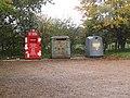 -2019-11-06 Recycling waste bins, Northrepps Village Hall, School Lane, Northrepps.JPG