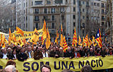 Demonstration in Barcelona für die Katalanische Nation