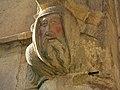 079 Sant Jeroni de la Murtra, galeria nord del claustre, mènsula amb policromia.JPG
