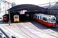 081R13160781 Stadtbahn, Bahnhof Michelbeuern, Typ N1 2978, Typ NH 6895, Typ E6 4905 16.07.1981.jpg