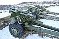 105 mm M101 howitzer Saluttkanoner Kronprinsessens bastion Kristansten festning Trondheim 2019-03-11 (These salute cannons were replaced in November 2019) 07879.jpg